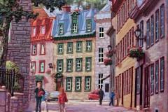 Flânerie dans le vieux Québec  30x30 po