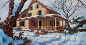 Chez l'ami Pierre,  30x36 po,   Disponible Galerie Guylaine Fournier Baie St-Paul