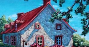 Blanchie à la chaux,  10x10 po,   Disponible Galerie Guylaine Fournier Baie St-Paul
