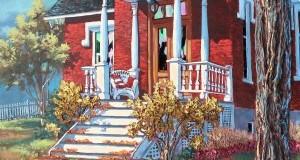 Balcon de rêve,   48x24 po,   Disponible Galerie Guylaine Fournier Baie St-Paul
