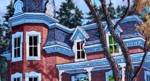 La plus grosse citrouille,  48x24 po,  Disponible Galerie Guylaine Fournier Baie St-Paul
