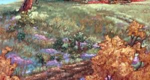 Fleurs sauvages sur la colline   36x24 po
